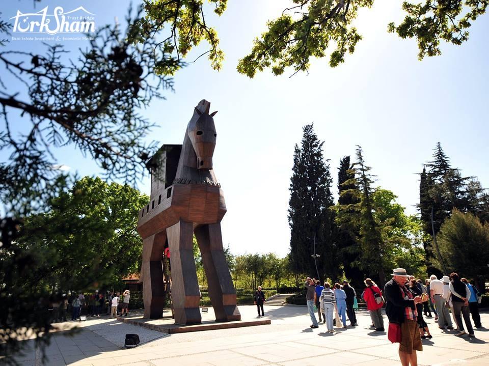 مدينة طروادة - نصف مليون سائح 2018